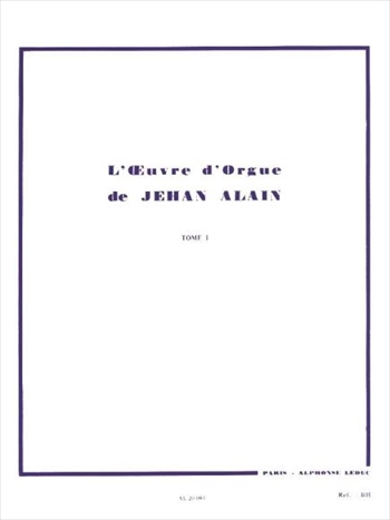 L'OEUVRE D'ORGUE TOME 1オルガン作品全集 第1巻
