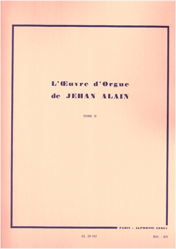 L'OEUVRE D'ORGUE TOME 2オルガン作品全集 第2巻