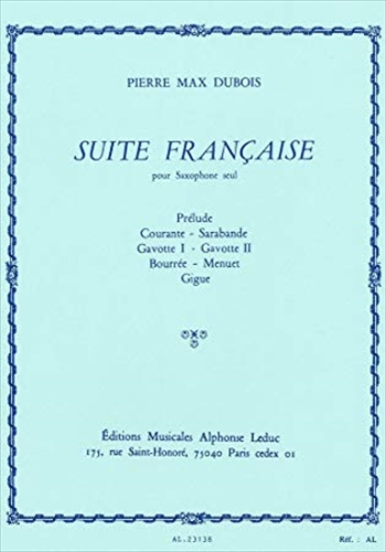 SUITE FRANCAISEフランス組曲 (アルトサックス)