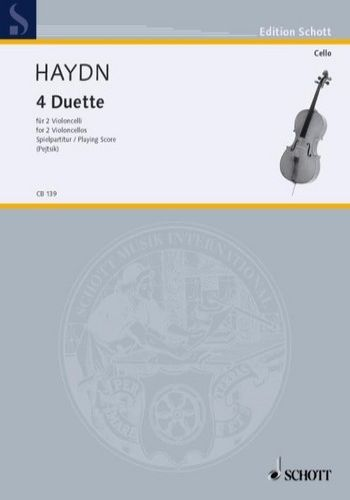 4 DUETTE4つのチェロ二重奏曲