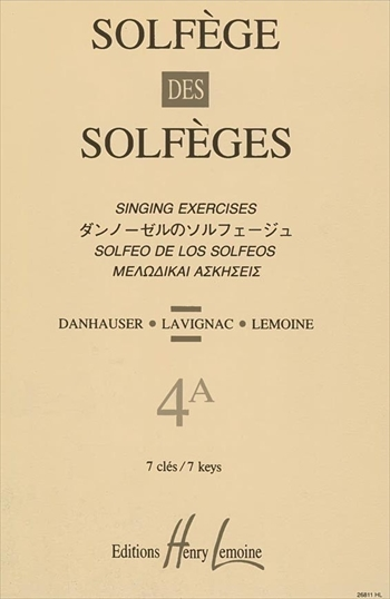 SOLFEGE DES SOLFEGES 4A(S/A)ダンノーゼルのソルフェージュ 4A 伴奏なし