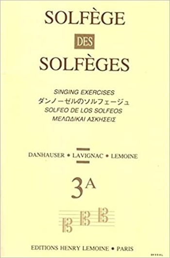 SOLFEGE DES SOLFEGES 3A(S/A)ダンノーゼルのソルフェージュ 3A 伴奏なし