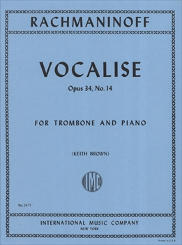 VOCALISE OP.34-14ヴォカリーズ(トロンボーン版)